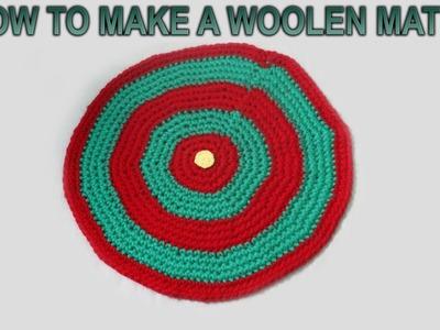 How to make a Woolen Mat with Crochet. Simple Crochet Mat - By Arti Singh