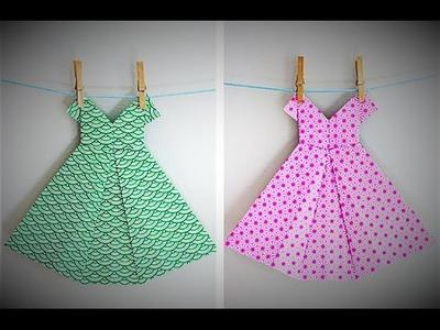 How to Make an Origami Dress - Craft Tutorial - Origami Wedding Dress