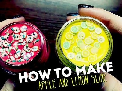 ► HOW TO MAKE APPLE AND LEMON SLIME | DIY ◄