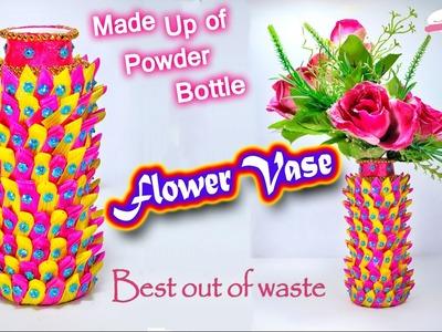 How to make flower vase | plastic bottle craft | best out of waste | DIY | Artkala 111