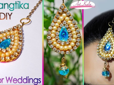 How to make maang tikka at home | wedding jewelry |  easy | DIY | Artkala 112