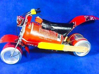 How to make Motorcycle by CocaCola-Cans - Motor Motorbike(Very Simple)