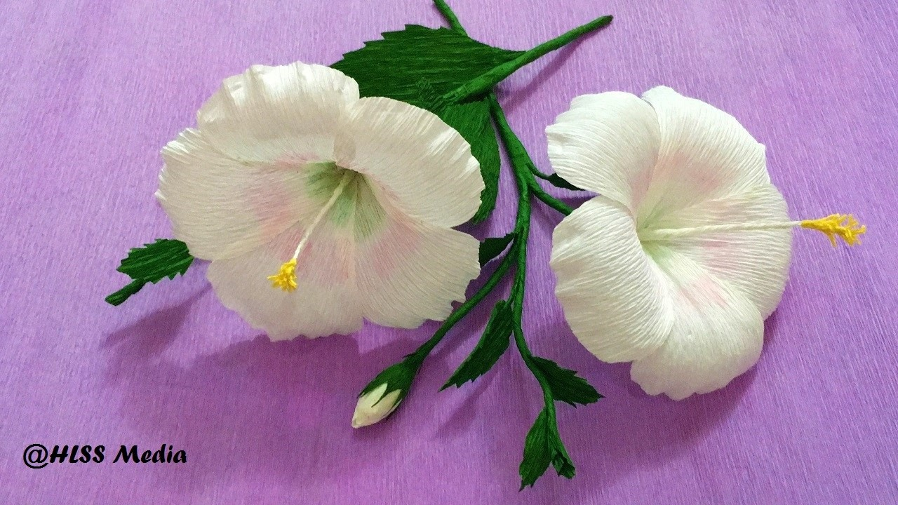 How To Make White Hibiscus Paper Flower Origami Step By