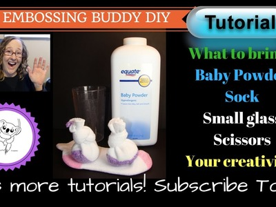 How to make your own Embossing Buddy! DIY Embossing Buddy TUTORIAL