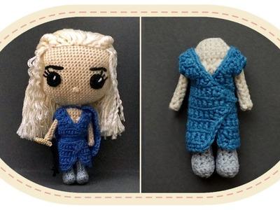Кукла Дейенерис Таргариен крючком, часть 5. Crochet Daenerys Targaryen, part 5. Game of Thrones.