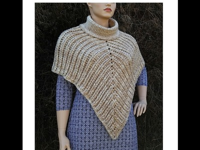 "Learn How To Crochet ""The Desert Sands"" Poncho TUTORIAL #368 Intermediate crochet"