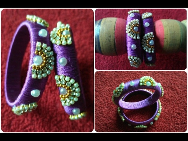 Making Silk Thread Bangles. DIY. How To Make Simple And BeautifulSilk Bangles For Baby's