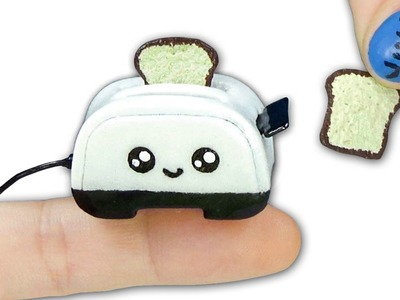 Miniature DIY Kawaii Toaster and Toast (actually rise!) for Dollhouse - YolandaMeow♡