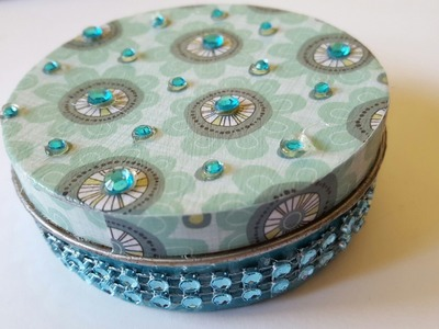 Mod Podge Upcycled Bling Tin | DIY Crafts