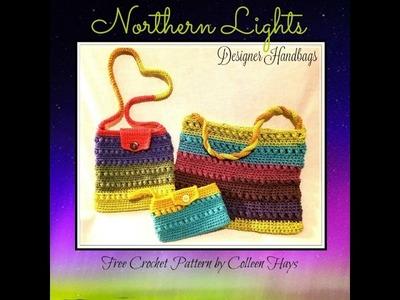 Northern Lights Crochet Handbag - Purse - Beachbag - Clutch!