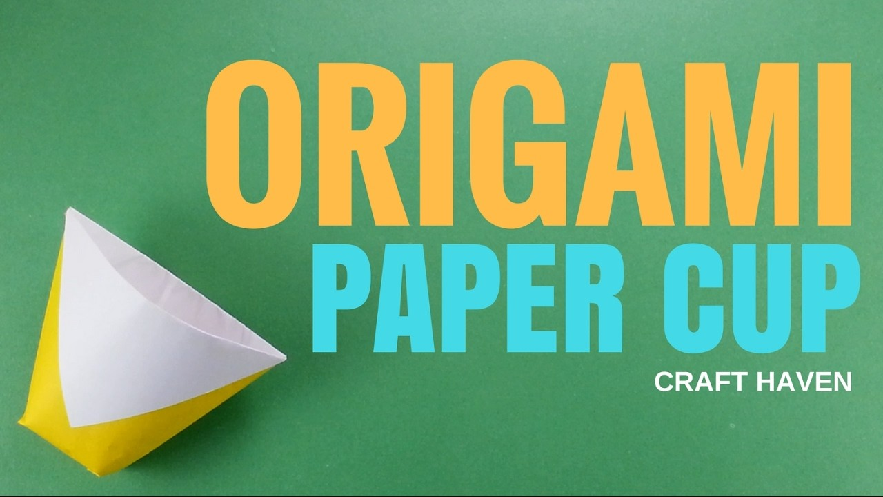 Origami Paper Cup - How To Make Paper Cup - Super Easy ... - photo#27