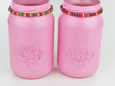 Painted jars - Fast & Easy Tutorial - DIY