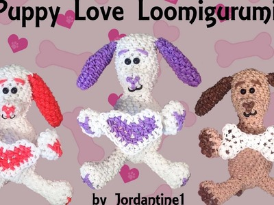 Puppy Love Part 1 Loomigurumi Amigurumi Rainbow Loom Band Crochet Hook Only Sitting Dog