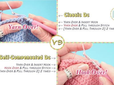 RIGHT HANDED - Classic Double Crochet vs Self Compensated Double Crochet