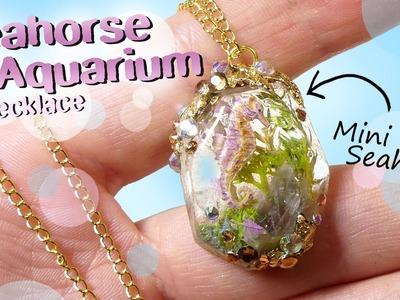 Seahorse Aquarium Necklace Tutorial DIY. Miniature Seahorse Jewelry