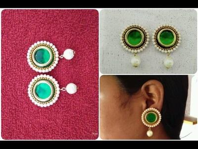 Simple And Easy Home Made Earrings. DIY. How To Make Jumkhas In Easy Steps. Tutorial