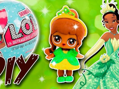 TIANA LOL Surprise Custom Doll DIY | Disney Princess Tutorial | Lil Outrageous Littles Repaint