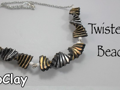 Twisted beads - DIY necklace - Polymer clay tutorial