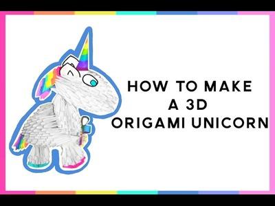 3D Origami Unicorn Tutorial