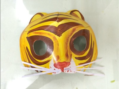 Animals mask for kids | How to make a tiger mask for kids | How to draw halloween | Art for kids
