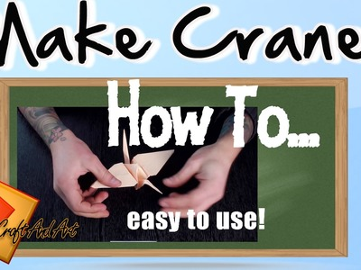 Crane. How to make crane. Origami