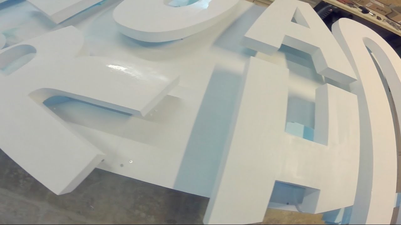 DIY  3D Brand Logo.Sign with Styrofoam