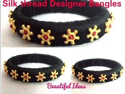 DIY. How to make Silk Thread Designer Bangles at Home.
