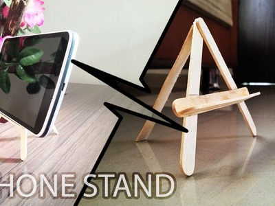 DIY Popsicle Stick Phone Stand! [STAND HOLDER]