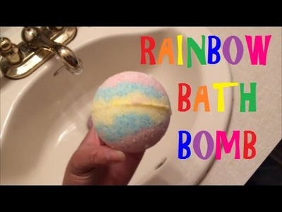 DIY Rainbow Bath Bomb