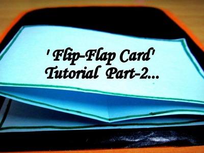 DIY: (Scrap Book Ideas) Flip-Flap Card tutorial by Navyatha Rai. !!