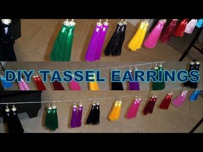 DIY Tassel Earrings | beauty In budget