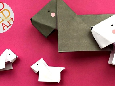 Easy Origami Dog (Scottie - Scottish Terrier) - Easy Origami Tutorial - How to fold a Paper Dog DIY