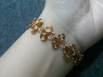 Egyptian Coil Bracelet - How to make wire jewelery 216