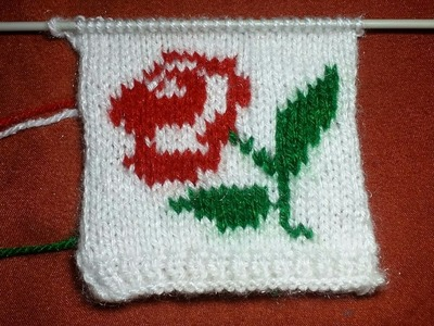 How Can We Make Rose Flower By Knitting | Simple & Easy Tutorial | Indian Happy Creation