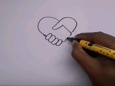 How to draw a loving handshake