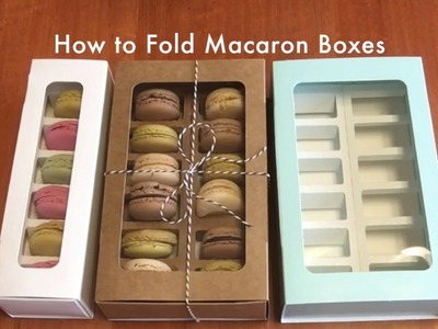 How to Fold Our NEW Macaron Boxes