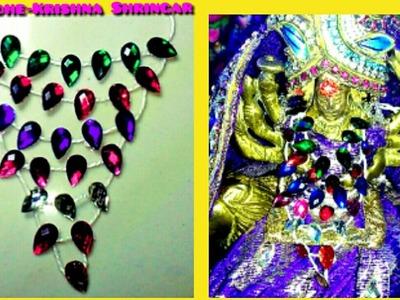 How to make 7 lad pure Stone(Nag) Mala.Necklace.Haar for Ladoo Gopal.Radha Maa.Durga Maa
