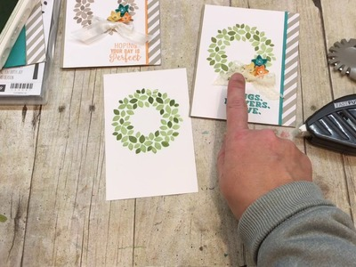 How to make a beautiful Wonderous Wreath Card for Spring