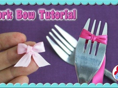 How to make a bow with a fork • Super cute and easy DIY