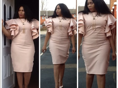 How To Make A Circle Sleeve Pencil Dress