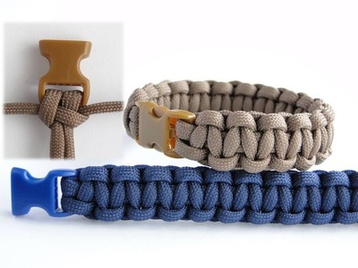 "How to Make a Cobra ""our favorite buckle to weave knot"" Paracord Survival Bracelet"