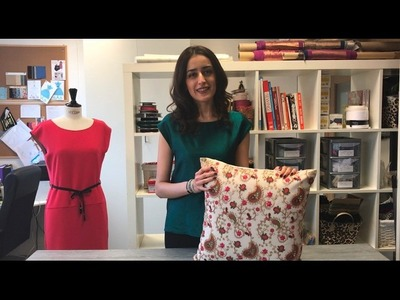 How to make a cushion cover with invisible zip by Hanieh