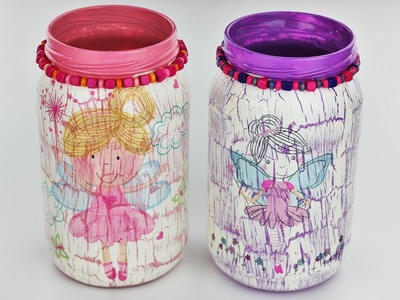 How to make a decoupage jars with easy crackle - Fast & Easy Tutorial - DIY