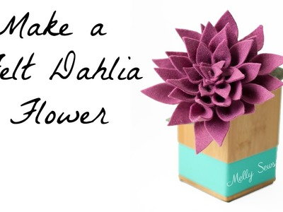How to Make a Felt Dahlia