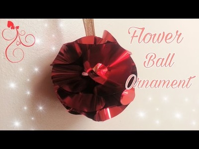 How to Make a Flower Ball Ornament