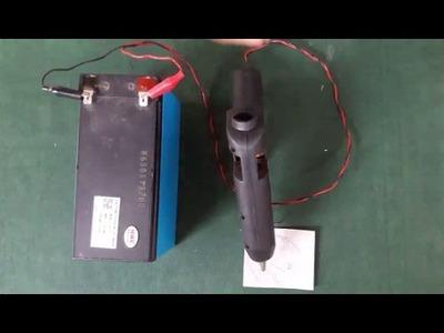 How to make a hot glue gun 12v dc