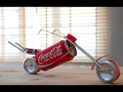 How to make a Motorcycle using Coca-Cola can (Coca-Cola Motorbike)