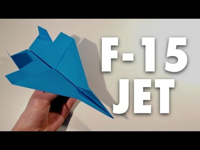 How to make a Paper F15 Fighter Jet!