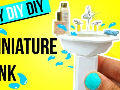 How to make a REALISTIC MINIATURE SINK | Dollhouse DIY