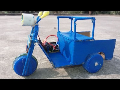 How To Make A (Tuk Tuk passenger) Tricycle Electric auto Rickshaw
